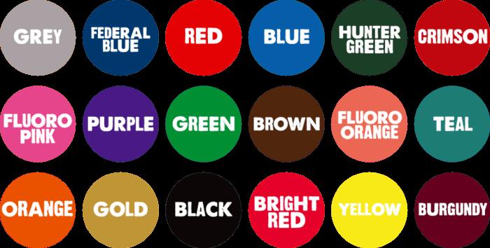 Χρωματολόγιο μελανιών Riso